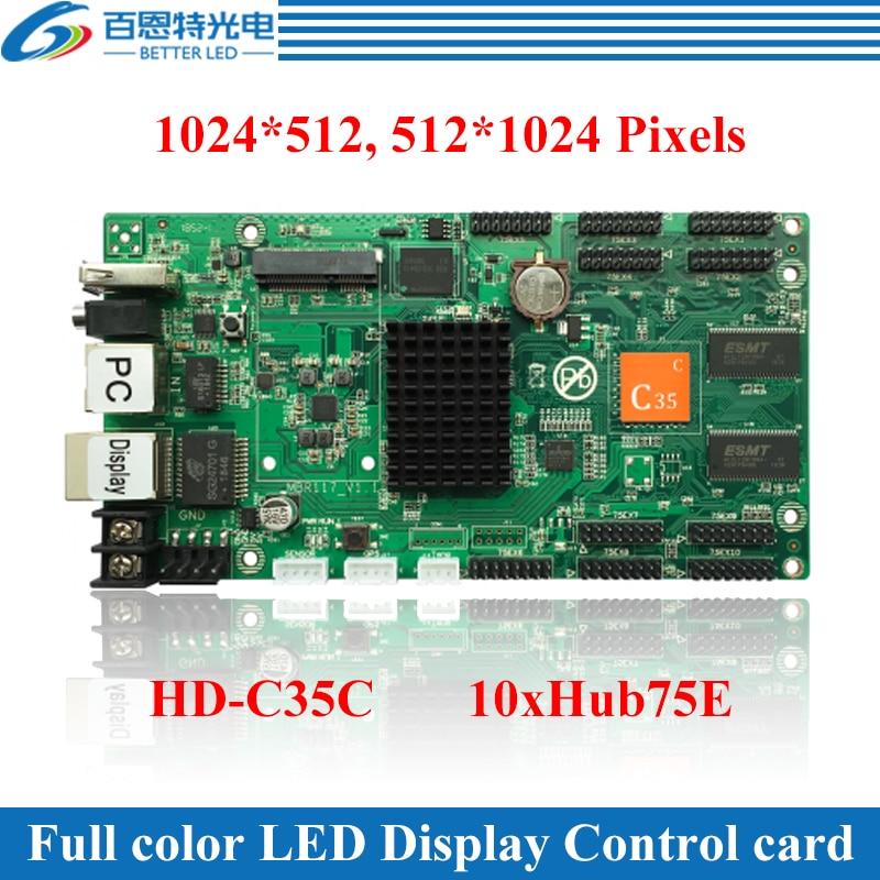 Port Ethernet USB + 2 de HD-C35 (peut être utilisé comme carte denvoi) carte de contrôle de LED couleur vidéo asynchrone