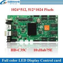 Carte de contrôle vidéo analogique LED couleur, USB HD-C35 + 2 ports Ethernet (peut être utilisé comme carte d'envoi)