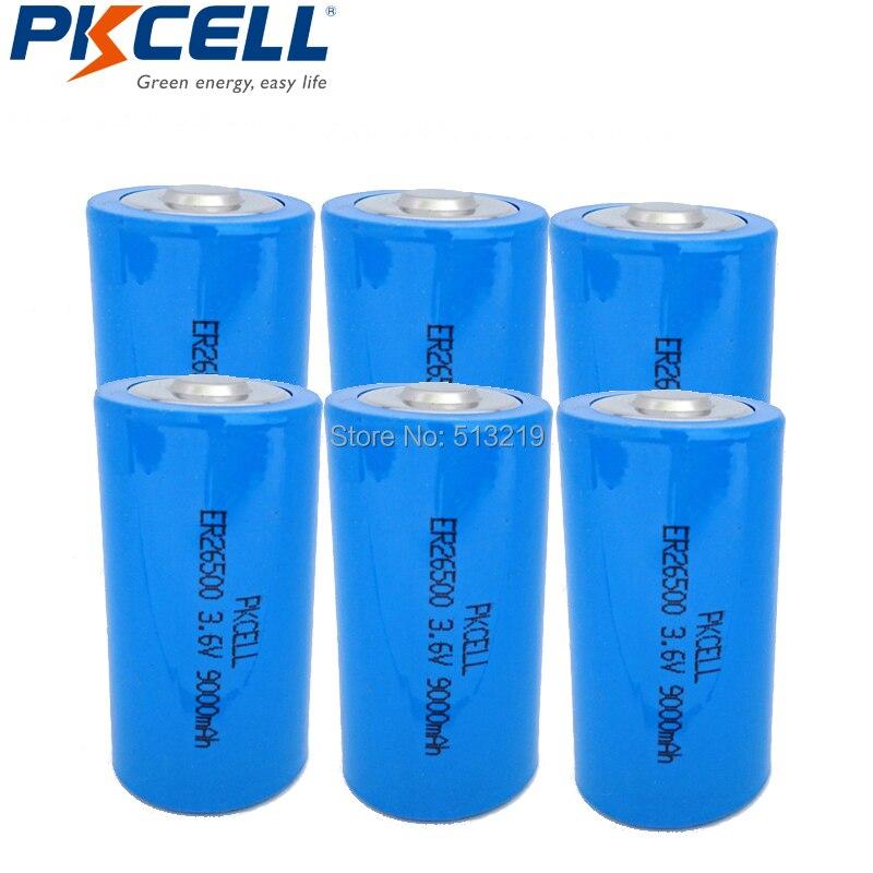 6x26500 ER26500 3,6 V 9000 mAh Batterie Lithium Li socl C Batterien ER26500 LS26500 9A batteria-in Primär- & Trockenbatterien aus Verbraucherelektronik bei  Gruppe 1