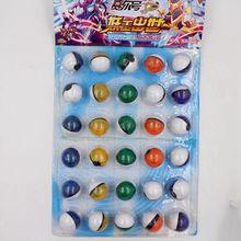 30 Шт./компл. 3 СМ Мини Аниме Poke Бал Пластиковый шар с мини Цифры Pokeball Игрушки Супер Мастер Детские Игрушки с розничный Пакет