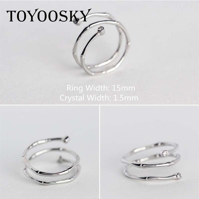 TOYOOSKY 925 ստերլինգ արծաթյա մատանի - Նորաձև զարդեր - Լուսանկար 3