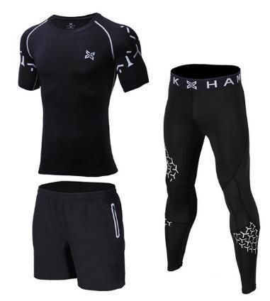 3 Pieces Mens Sports Suits Quick Dry Sets 1