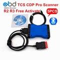 5 Unids/lote DHL Libre Bluetooth Nueva VCI TCS CDP TCS Escáner CDP + Herramienta de Diagnóstico Para El Carro Del Coche Genérico 3in1 CDP Pro 2014 R2 R3