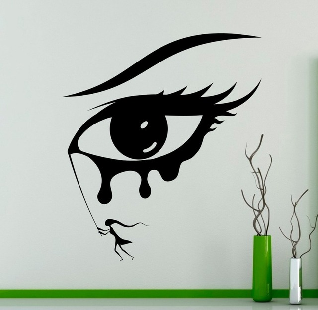 Aliexpresscom Buy Beauty Salon Eye Girl Wall Vinyl Decal - Vinyl stickers designaliexpresscombuy eyes new design vinyl wall stickers eye wall