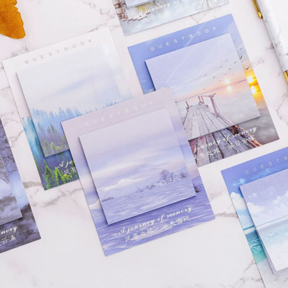 1PCS/30Sheet  Creative Landscape Travel Memo Pad Sticky Notes Memo Notebook Stationery Paper Stickers Office School Supplies