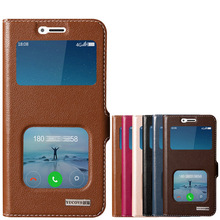 Window Cover Case For Xiaomi Redmi 4X 5.0″ Top Quality Natural Genuine Leather Magnetic Flip Stand Mobile Phone Bag + Free Gift