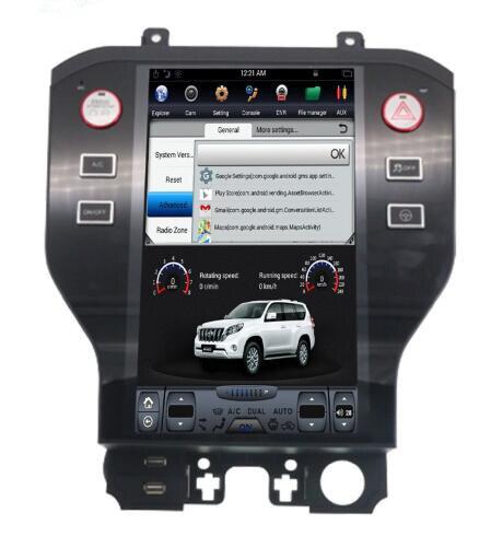 11.8 tesla style vertical écran android 7.1 Quad core De Voiture GPS radio Navigation pour Ford Mustang 2013-2018