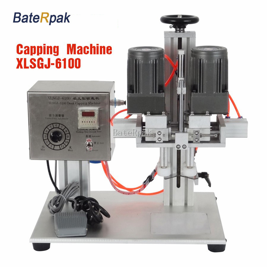 XLSGJ-6100 BateRpak Desktop Medical capping machine, chemical, Cosmetic, round capping machine, machine lock lock machine