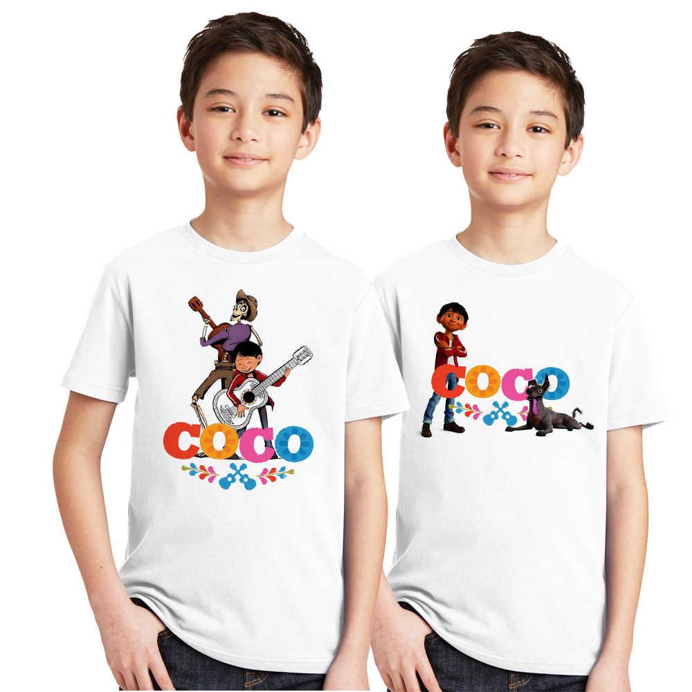 583a7cede24b 2pcs lot Coco Pixar Skull Kids Boy T Shirt Miguel Hector Children T-shirt