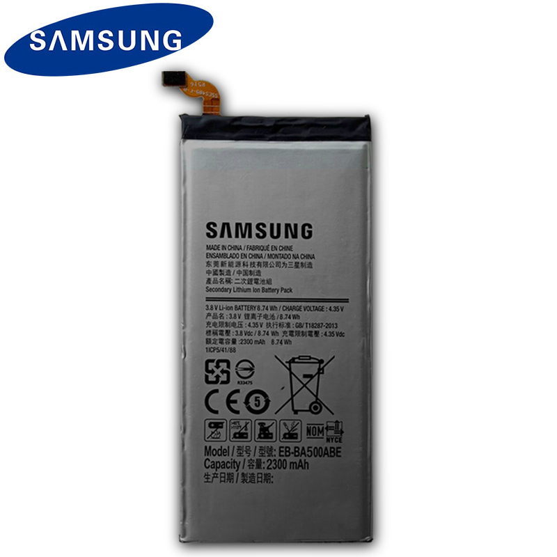 SAMSUNG Original Mobile Phone <font><b>Battery</b></font> EB-BA500ABE For Samsung GALAXY <font><b>A5</b></font> 2015 Authentic Replacement <font><b>Battery</b></font> EB-BA500ABE 2300mAh image