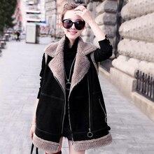 Lamb hair vest female Coat winter 2018 new fur one long paragraph short shoulder bf cotton jacket Women