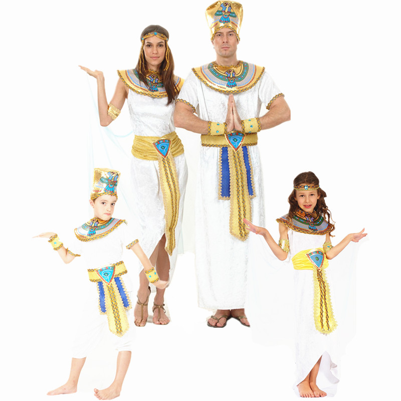 Halloween party clothes white adult children Egyptian ...