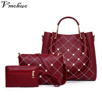VMOHUO 3PCS Women Composite Bag Luxury Leather Purse and Handbags Famous Brands Designer Sac Handbag Female Shoulder Bag Set
