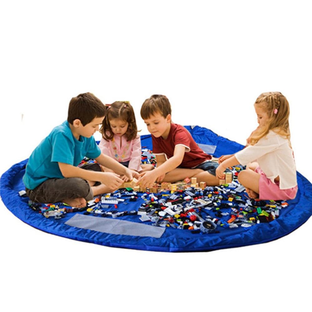 50cm/150cm Portable Kids Toy Storage Bag and Play Mat Lego Toys Organizer Bin  Fashion Practical Storage Bag Toy Storage Bag