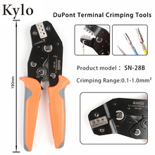 цена SN-28B dupont crimp tools Ratchet TAB Terminal Crimping pliers  Insulated Terminal Crimper Pin with Wire-Electrode Cutting Die в интернет-магазинах