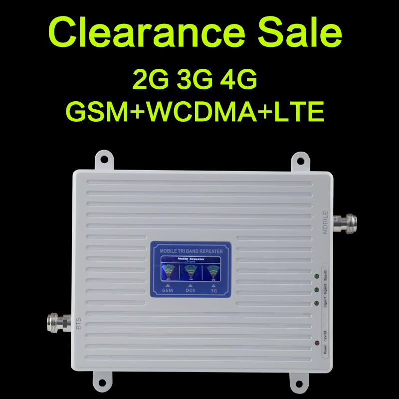 Clearance Sale GSM WCDMA LTE UMTS 2g 3g 4g Mobile Phone Signal Booster 70dB 900 1800 2100 Tri Band Signal Repeater Unit