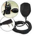 Handheld 1.7M  PTT Speaker Mic 2Pin 3.5mm Microphone IP54 Waterproof for Kenwood for Baofeng Radio UV5R, UV5RA, UV5RB, UV5RE