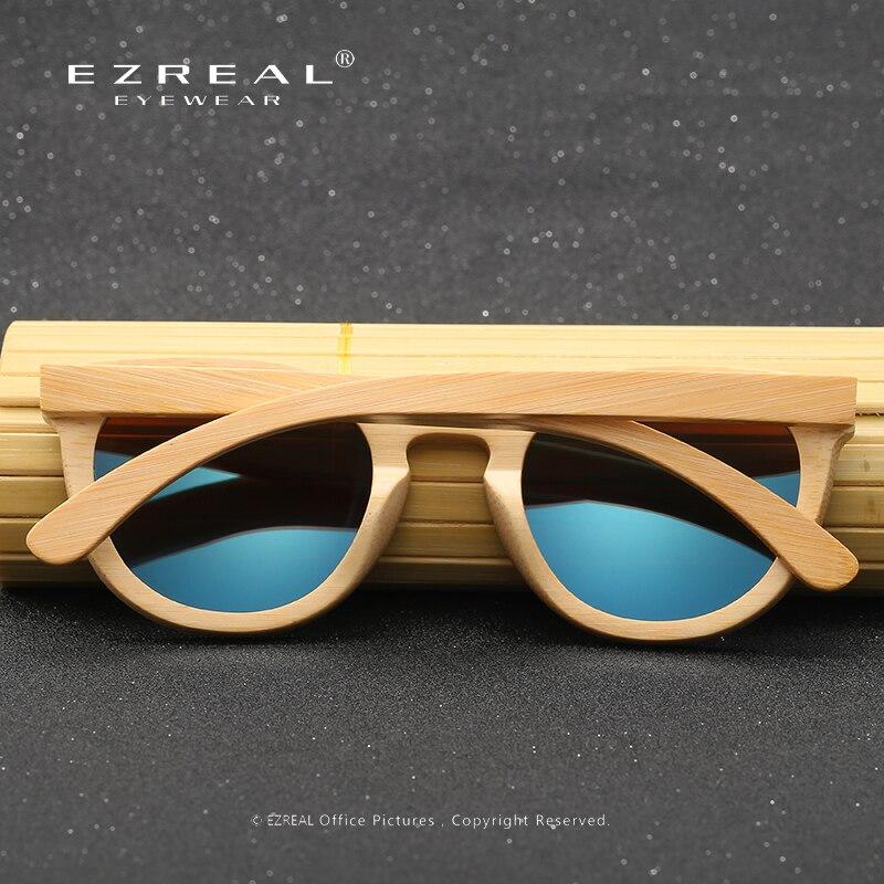 EZREAL Hombres Mujeres 100% Gafas de sol de madera de bambú natural - Accesorios para la ropa - foto 4