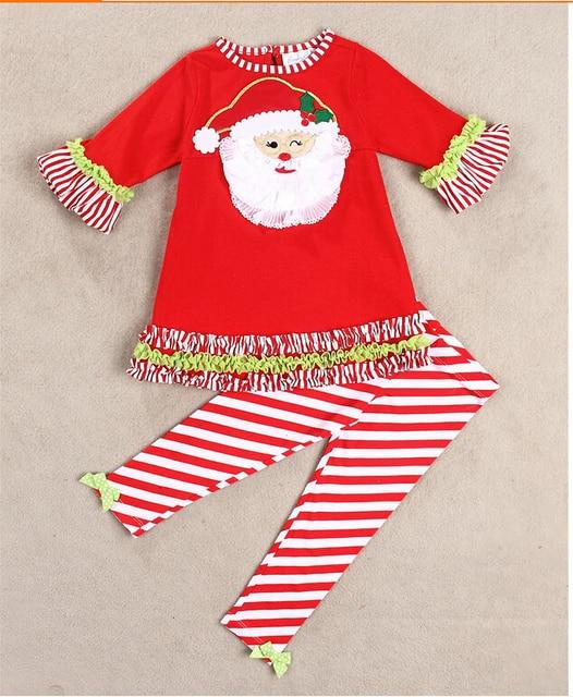 47c8dd58c Boys christmas pajamas girls christmas dress Santa pants Suit With ...