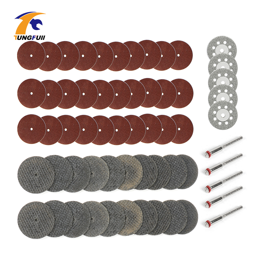 Tungfull Accessories 60Pcs Diamond Cutting Disc Woodworking For Dremel Mini Drills Grinding Circular Saw Blade Metalworking