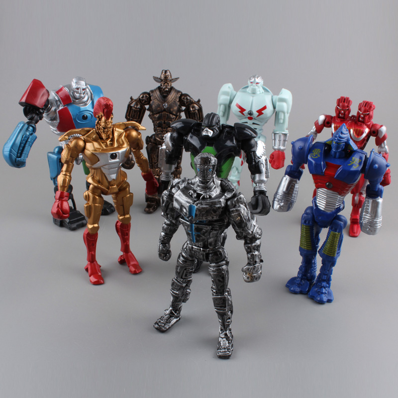 Real Steel PVC Action Figure Collection Model Toys Classic Toys Christmas Gift 8pcs/set  цена