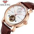 AILANG мужские часы Топ Бренд роскошные механические часы водонепроницаемые 50 м турбийон часы кожа бизнес relojes hombre 2017