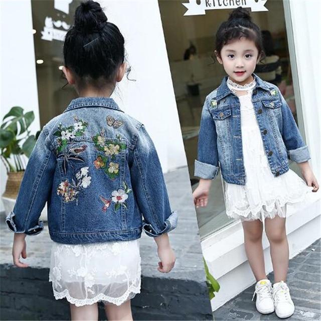 1854ba2ed Spring Autumn Girls Denim Jackets Child Jean Jacket Baby Girls ...