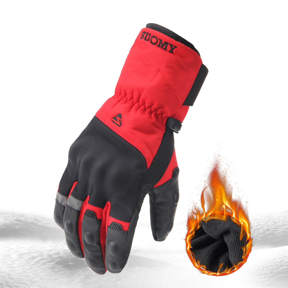 Autumn and Winter Motorcycle Gloves Touch Screen Design Full Finger Gloves Windproof Waterproof and Fallproof Warm Riding Motorcycle Gloves for Men and Women