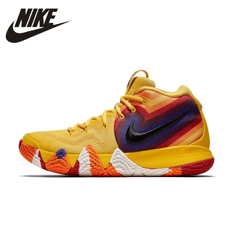 NIKE Kyrie 4 D'origine Mens Basketball Chaussures Respirant La Stabilité Anti-slip Sport En Plein Air Sneakers Pour Hommes Chaussures