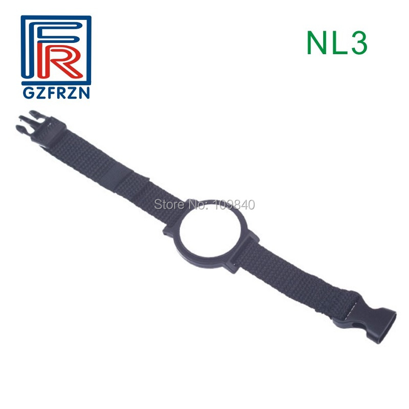 1pcs UHF rfid Nylon wrisband tag Card with Alien H3 chip ISO18000-6C bracelet for access control Event survival nylon bracelet brown