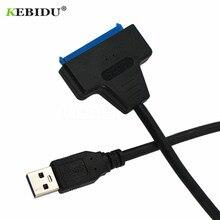 Kebidu usb 3.0 cabo sata 22 pinos sata para adaptador usb até 5 gbps suporte 2.5 polegadas externo disco rígido hdd ssd dvd cd rom