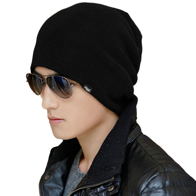 Knitted Beanies Winter Wool Hats For Men Bonnet Chapeau Cap Autumn