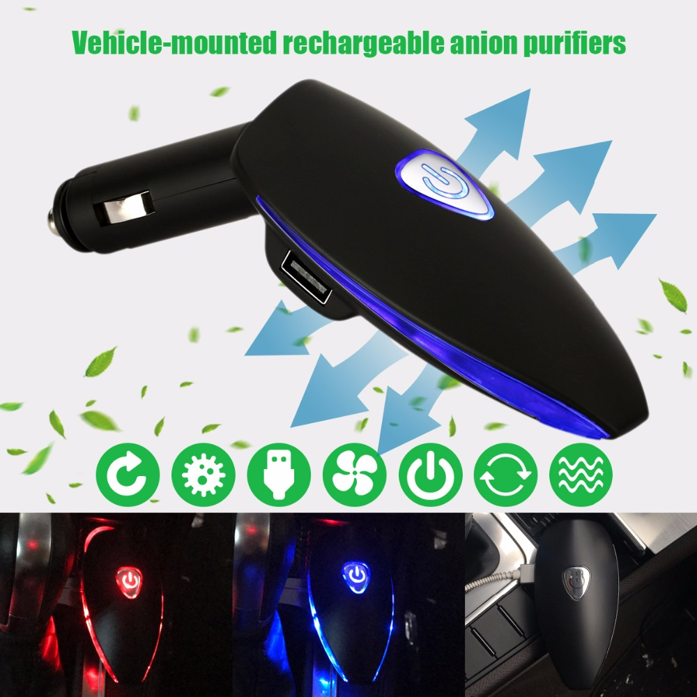 Car Air <font><b>Freshener</b></font>,Purifier Oxygen Bar Ionizer for Universal 12V Car Cigarette Lighter Plug Car Charger USB Splitter for all