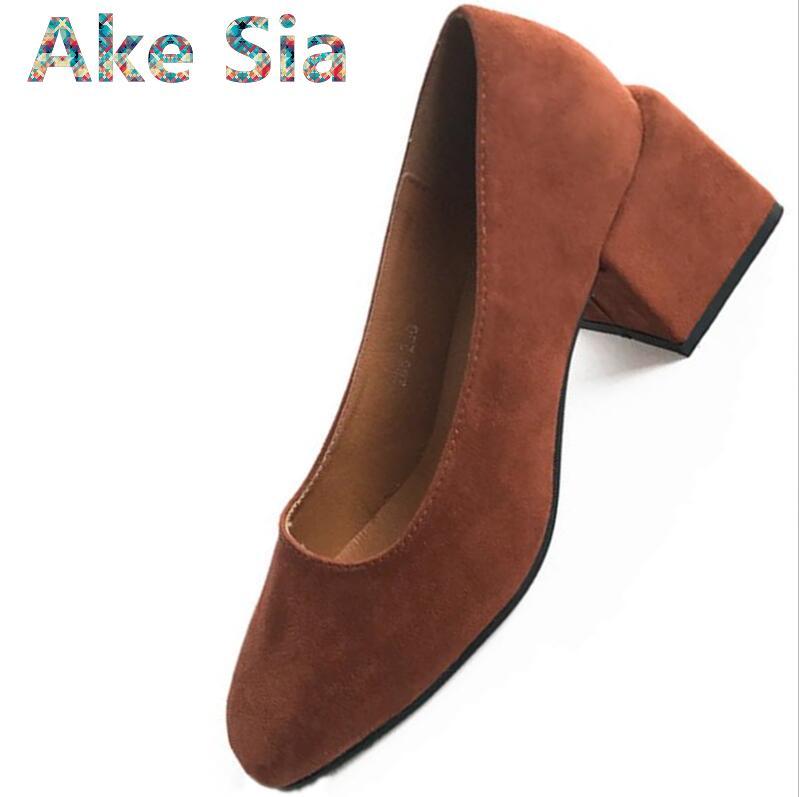 0 Vintage Quadratischen Kopf Oma Schuhe Mit Grobe High Heels 2018 Herbst Einfache Seite Mit Einem Einzigen Weiblichen Schuhe #134 Hitze Und Durst Lindern.