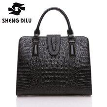 High Quality 100% Genuine Leather Women Handbags Classic Alligator Women Bag Fashion Brand Women Shoulder Bag