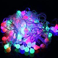 10 Mt 100 Led-kugeln Globen Fee LED String Glühbirnen Multicolor Party Hochzeit Weihnachten Garten Außen Decor 220 V Eu-stecker