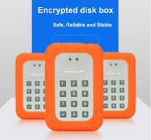 Encrypt key lock sata hdd enclosure sata hdd case with password setting function USB3.0 hard disk box high speed shockproof case