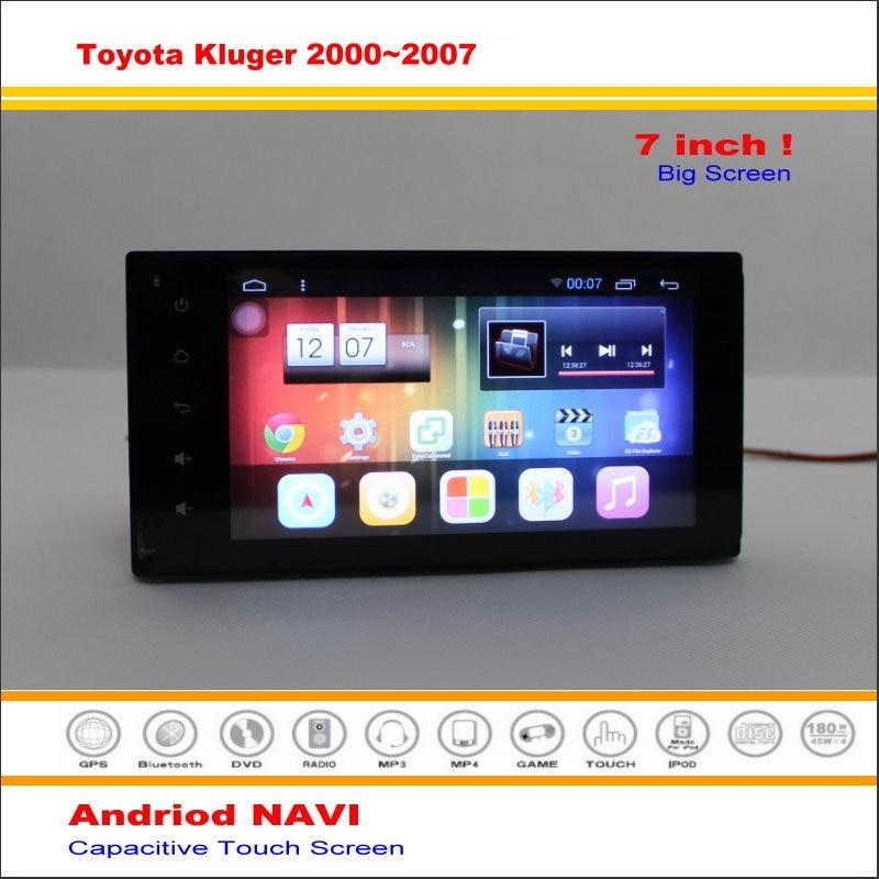 Android GPS del coche Sistema de Navegación Para Toyota Highlander/Kluger 2000 ~