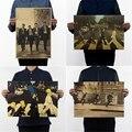 Cross the street Road /abbey road/музыкальная рок-группа/классический рок/крафт-бумага/ретро постер/декоративная картина 42*30 см