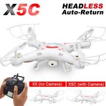 X5C RC Drone con cámara 2.4G 4CH Professional Quadcopter Toy helicoptero de control remoto / X5 Drones sin cámara