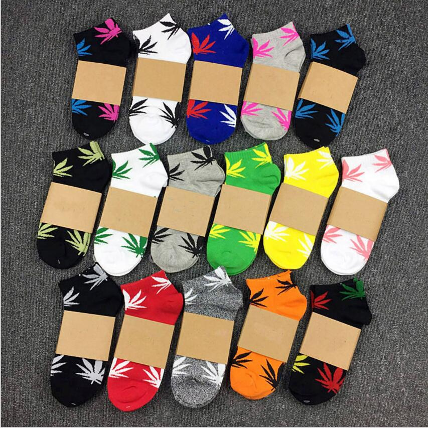 Fashion Ankle Harajuku Leaf Socks Men Summer Fashion Socks Maple Leaf Skateboard Cotton Sox Lovers Socks