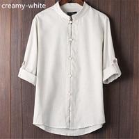 TOLVXHP Men S Cotton Casual Linen Shirt Slim 2018 New Men S Short Sleeved Linen Shirt
