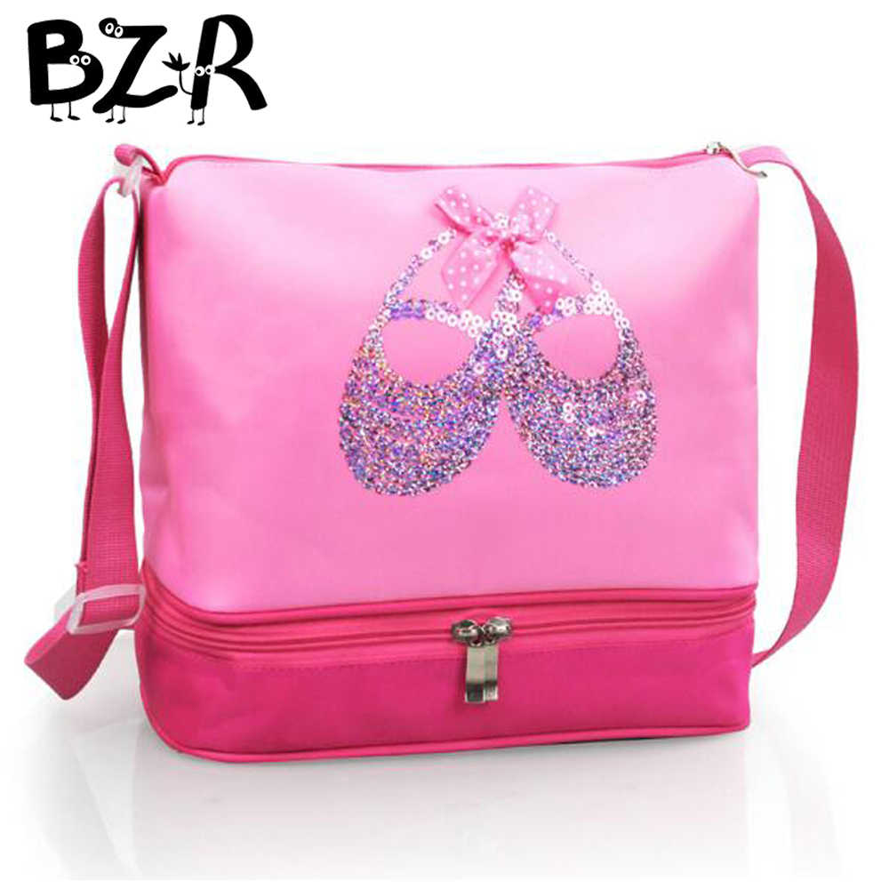 Sweet Sequined Ballet Dance Bag Embroidered Ballet Shoes Ballet Handbags Girls Waterproof Canvas Ballet Dance Bag For Children