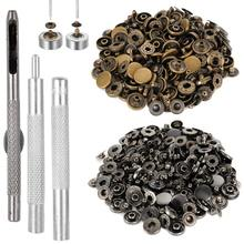 12.5MM 40Sets/Lot Metal Snap Buttons Snaps Press Button Fasteners With 4 Pieces DIY Fixing Press Studs Clothing Sewing Tool 2017 t3 5 8 plastic snaps buttons snap fasteners pliers handle press studs clamp craft sewing tool rasp dremel 2016