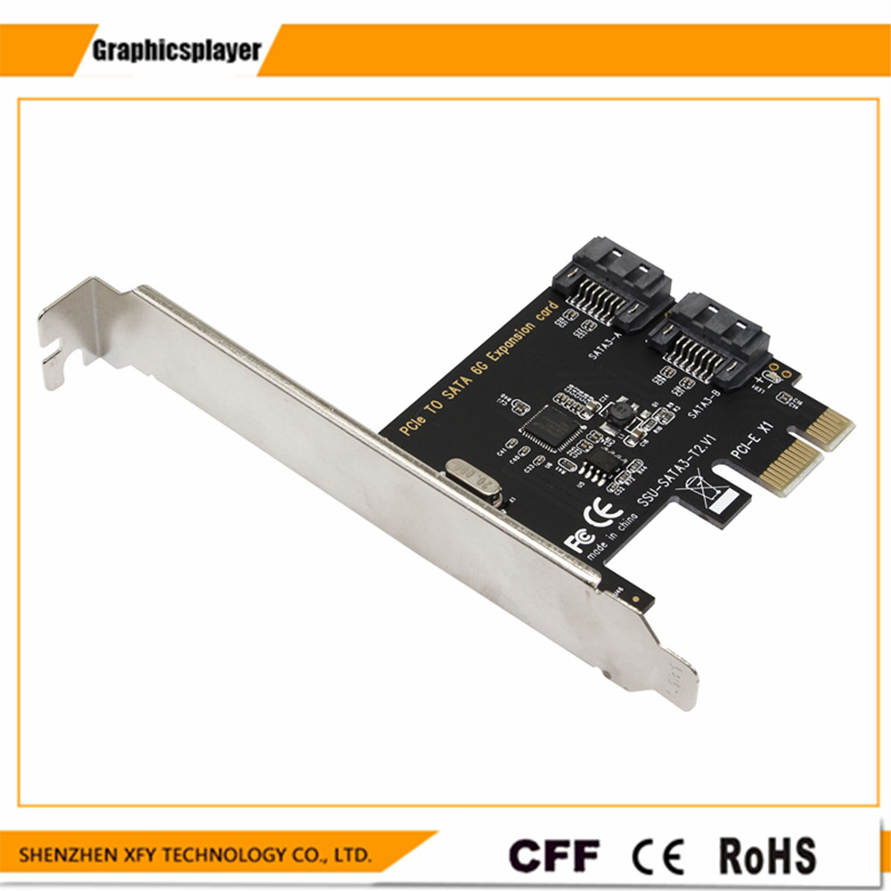 PCI Express zu SATA3.0 2-Port SATA III 6G Expansion Controller Adapter Für Desktop-Computer Komponenten PC PCI E
