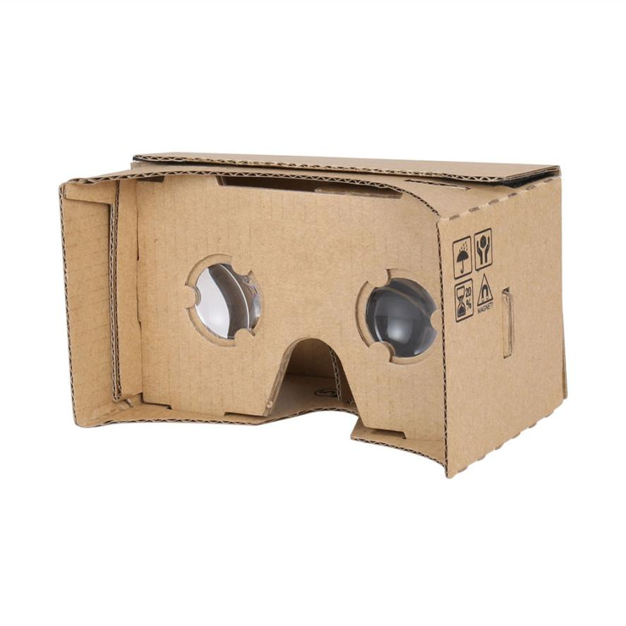Carprie New DIY Cardboard 3D Vr Phone Virtual Reality Viewing Glasses For Google 17Sep01 Dropshipping