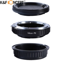 K&F CONCEPT For Nikon PK Camera Lens Adapter Ring With Optic Glass fit For Nikon Lens To for Pentax K Mount Camera Body