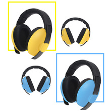 Adjustable Baby Earmuffs Hearing Protection Safety Earmuffs Noise Reduction Ear Protector for Child Baby 6 colors