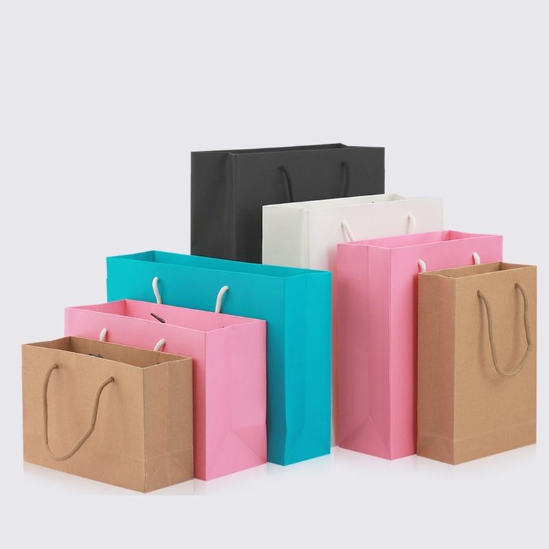 100 pzas/unids/lote bolsa de papel kraft con asa bolsa de fiesta de boda zapatos de tela de moda bolsas de papel de regalo 21 tamaños multifunción al por mayor-in Suministros de envoltorios y bolsas de regalo from Hogar y Mascotas    1