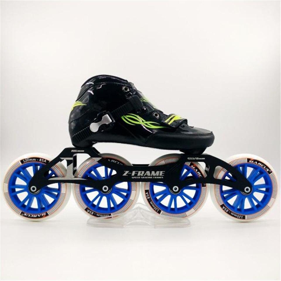 JEERKOOL fibre de carbone fibre de verre MARCUS 4 roues patins de vitesse en ligne enfant adulte chaussures de Sport de course de rue Patines d'entraînement SH20